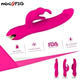 miniPIG 7x 'innovative' Premium Multi-speed Wand Hand-held Electric Massager, Wireless, Powerful Vibrator, for Muscle Relaxation, Sensation and Recovery, Water Proof, Top Quality Silicone (Soft Red)