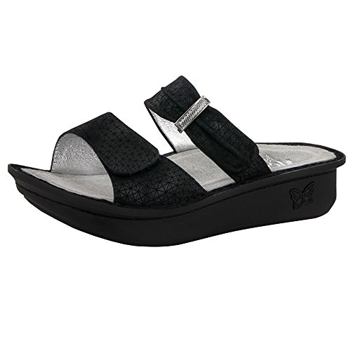Alegria Women's Karmen Black Wavy Sandals (EURO42-US11-11.5) by Alegria