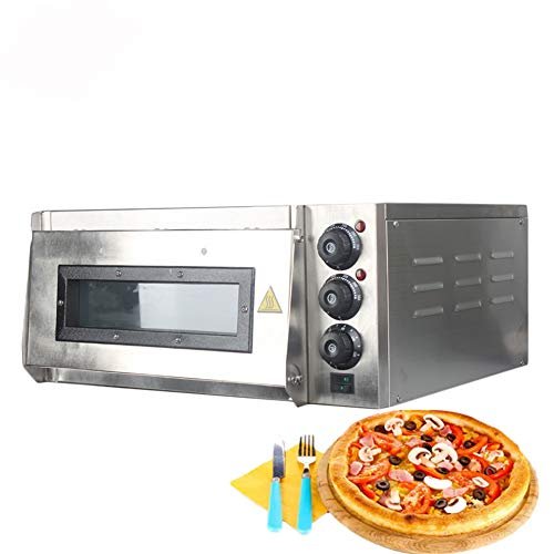 Pizzaoven, 2KW Commercial Electric Pizza Oven Single Layer Professionele Elektrische Bakoven Cake/Brood/Pizza Met Timer