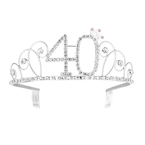Crystal Tiara Birthday Crown Rhinestone Happy Birthday Tiara Sweet 40 Birthday free shipping