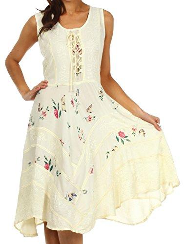 Sakkas 12311 Fairy Maiden Corset Style Dress - Ivory - 1X/2X