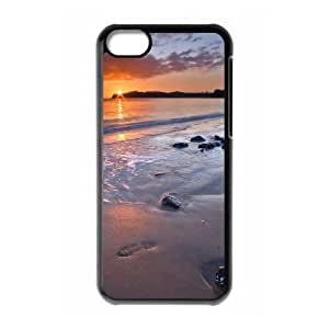 iphone5c case (TPU), night beach backgrounds Cell phone case Black for iphone5c - FGHJ8973925