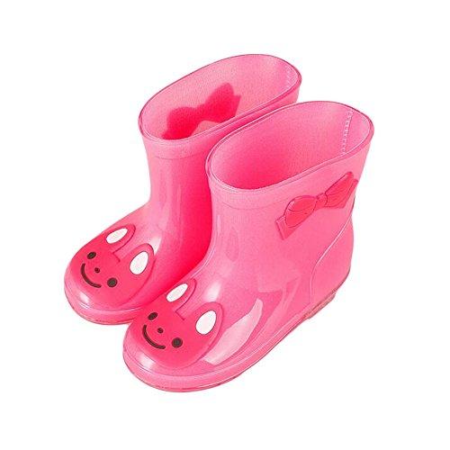 Meijunter Unisex Kinder Rainboots Regen Stiefel Wasserdicht Animal Prints Jungen Mädchen Gummi Rain Shoes Boots Regen Schuhe Wasser Schuhe Pink