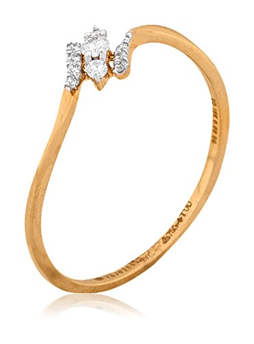 Buy Senco Gold 18k Yellow Gold And Diamond Ring Online At Low Prices