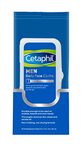 Price comparison product image Cetaphil Men Daily Face Cloths, 25 Count