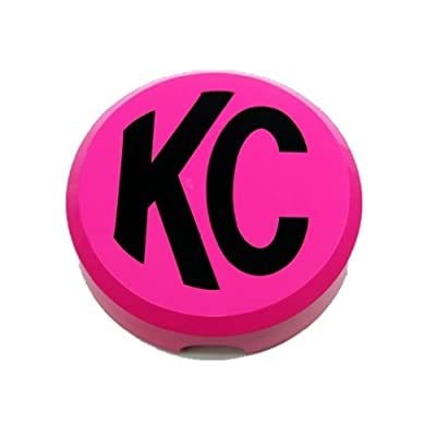 "KC HiLiTES 5124 6"" Round Pink Plastic Light Cover w/ Black KC Logo - Single Cover: Automotive"