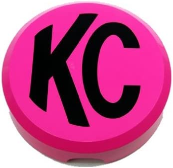 Plastic Light Covers >> Kc Hilites 5124 Pink 6 Round Hard Plastic Light Cover With Black Kc Logo