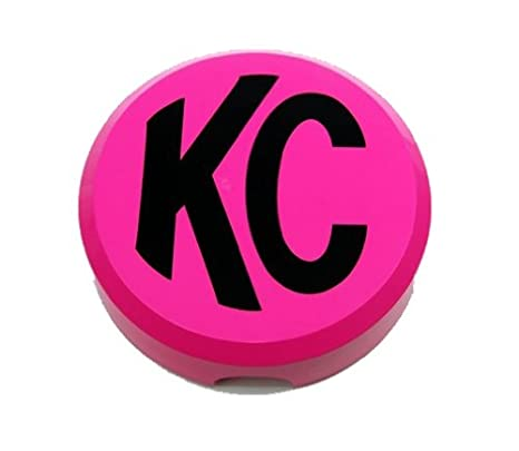 Plastic Light Covers >> Kc Hilites 5124 6 Round Pink Plastic Light Cover W Black Kc Logo Single Cover