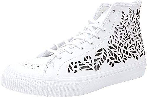 Vans Womens SK8-Hi Decon Hight Top Lace Up Fashion Sneakers Leaves/White GkKJWmC