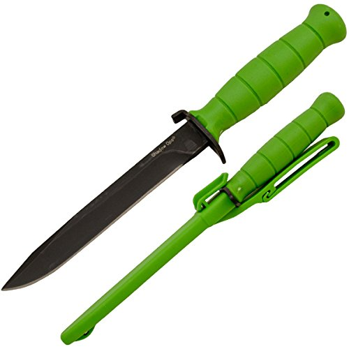 Shadow OPS Green Handle Zombified Fixed Blade Tactical Knife with Sheath and Attachment