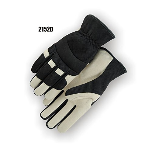 (12 Pair) Majestic SLIP ON PIGSKIN PALM GLOVES WITH KNIT BACK - 2X LARGE, BEIGE(2152D/12)