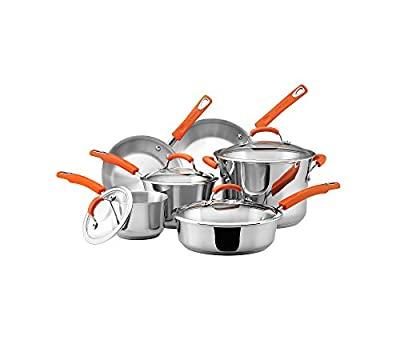 Rachael Ray 10-pc. Stainless Steel II Cookware Set
