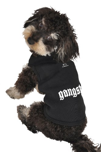 Ruff Ruff and Meow Dog Tank Top, Gangsta, Black, Large