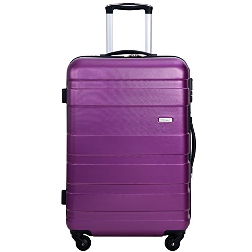 Merax MT Imagine Luggage Set 3 Piece Spinner Suitcase 20 24 28inch (Purple-24inch)