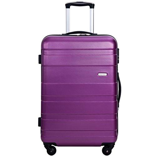Merax MT Imagine Luggage Set 3 Piece Spinner Suitcase 20 24 28inch (Purple-24inch)