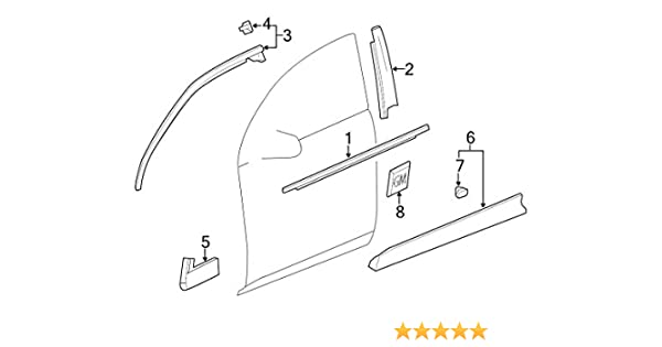 Genuine Honda Parts 71190-TK6-A00 Driver Side Front Bumper Cover Support