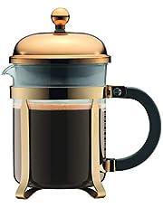 Bodum 11813-17 CHAMBORD kaffebryggare, 4 koppar, 0,5 l, rostfritt stål, borosilikatglas
