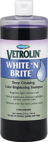 Farnam Vetrolin White 'N Brite Deep-Cleaning Color-Brightening Shampoo, 32 fl oz