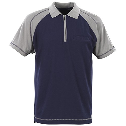 "Mascot Polo-shirt ""Bianco"", 1 Stück, 2XL, marineblau/hellgrau, 50302-260-188-2XL"