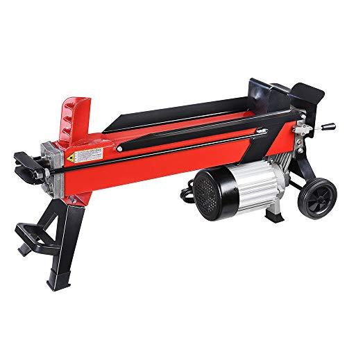 Kanizz Heavy Duty Log Splitter Firewood Easy Splitter Wood Kindling Cutter 7 Ton Powerful Electrical Hydraulic Type W/Wheel