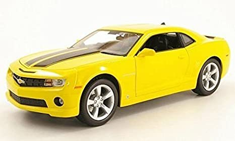 2010 Camaro Rs >> Amazon Com Maisto 2010 Chevy Camaro Rs Ss 1 18 Yellow Black