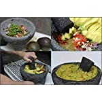 """TLP Molcajete authentic Handmade Mexican Mortar and Pestle 8.5"""" 11 It is a handmade product, made from lava rock. The product by nature will be porous. We have listed a preparation guide on the listed item. Those steps wil"""
