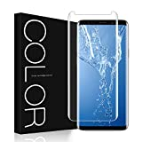Galaxy S8 Screen Protector, G-Color S8 [Full Adhesive] [3D Glass] [Case Friendly] Tempered