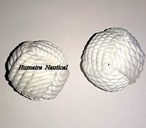 Omaira Naaz Decoration Table Decor Rope Balls//Set of 4 Cotton Rope//Nautical Bowl Filler//Beach Decor