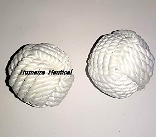 Omaira Naaz Decoration Table Decor Rope Balls//Set of 2 Cotton Rope//Nautical Bowl Filler//Beach Decor