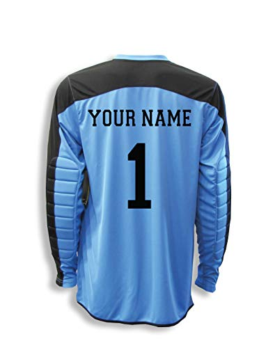 b9ba33b9f Diadora Enzo Goalkeeper Jersey Personalized with Your Name and Number -  Columbia Blue - Size Youth Large