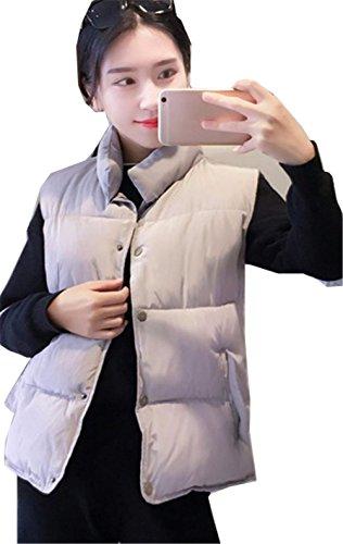 事業内容第三海里YINUO レディース 中綿ベスト ノースリーブ ジャケット ショート丈 ブルゾン アウター 可愛い 防寒 秋冬 アウトドア ファッション 暖か
