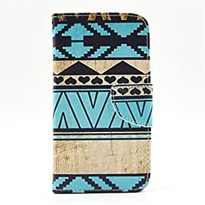 QHY Blue Stripes Pattern PU Leather Full Body Case with Card Slot and Stand for Samsung S5 I9600