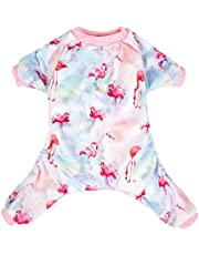 CuteBone Dog Pajamas Flamingo Dog Apparel Dog Jumpsuit Pet Clothes Pajamas Puppy Clothes P44L-AU
