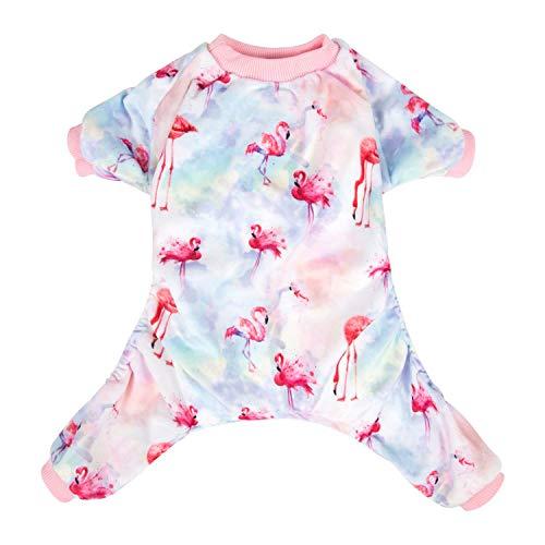 - CuteBone Flamingo Dog Pajamas Cute Cat Clothes Pet Pjs Onesie, Large P44L