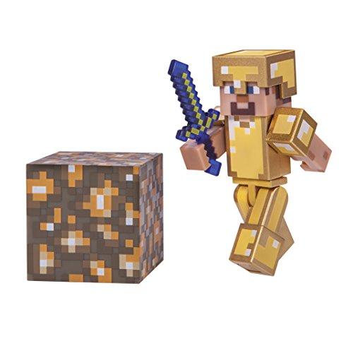 Minecraft Steve in Gold Armor Figure Pack]()