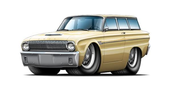 Amazon com: GF 1962 Ford Falcon Wagon WALL DECAL 2ft long