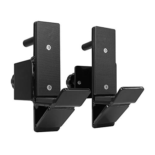 Yes4All J-Hooks Barbell Holder for Power Rack - Fit 2x2, 2x3, 3x3 Square Tube (Pair) (Black - J-Hook 2x3) (Best Bench Press Accessories)