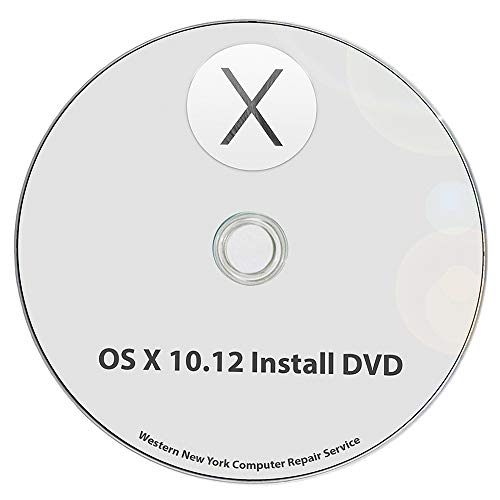 (Mac OS X 10.12 Sierra Full OS Install - macOS Reinstall/Recovery Upgrade Downgrade/Repair Utility Complete Factory Reset Disc CD DVD Drive Disk)