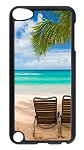 Diy Yourself iPod Touch 5 case cover, Maui Beach Hawaii Palm Tree Rugged case cover Protector for iPod Touch 5 / iPod 5th Generation PC Hardshell case cover Black Black zwLFAE4gk53