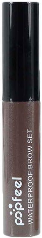Babysbreath17 POPFEEL 4 Colores ceja del Tatuaje de desprendimiento de Maquillaje Natural de Cejas Tinte Impermeable Ojos Larga duración Cejas 1