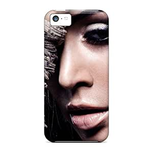 BjbweCg7726GGcgp Case Cover Protector For Iphone 5c Girl Eyes Face Nose Brunette Hand Case