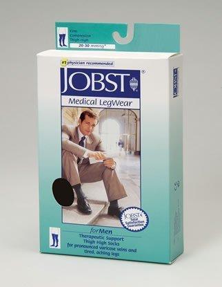 JOBST Thigh High, Men, 20-30 mmHg, Closed Toe, Large, Black, 1/Pair, JOB115410 by JOBST