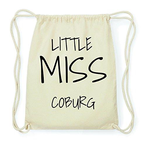 JOllify COBURG Hipster Turnbeutel Tasche Rucksack aus Baumwolle - Farbe: natur Design: Little Miss UVBxaeR