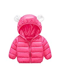 Infants Kids Winter Cotton Coats Baby Cute Small Ears Hooded Jacket Short Coat