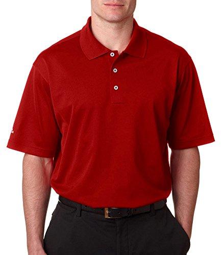 Adidas Golf Men's Climalite Basic Performance Polo Shirt, Cardinal, Medium