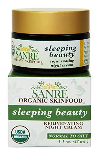 SanRe Organic Skinfood – Sleeping Beauty – 100 USDA Organic Balancing Night Cream For Normal Oily to Combination Skin