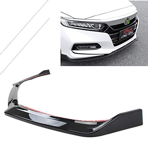 - GZYF Front Bumper Lip, Splitter Spoiler Side Skirt Trim Protection Compatible With Honda Accord 2018, Matte Black