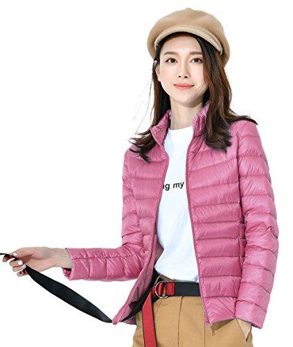 Collar Las Abajo Capa Del 11 Delgado Ligero Santimon Packable Disponibles Soporte De Calentar Mujeres Chaqueta Rosa Invierno Colores 5XBqzxqw