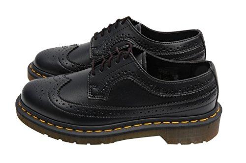 Dr. Martens 3989 Felix Rub Off BLACK - Zapato brogue de cuero mujer negro