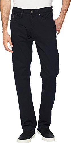 U.S. Polo Assn. Men's Slim Straight 5 Pocket Stretch Twill Jean, Black 32Wx32L